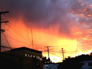 The View From My Stoop: Tonight's Sunset